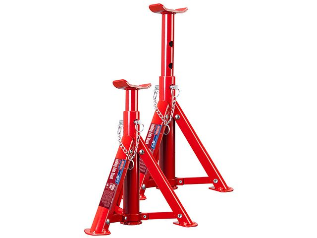 2 TONNE HYDRAULIC TROLLEY JACK /& PAIR OF 2 TONNE FOLDING AXLE STANDS