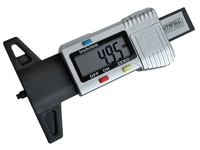 Tyre Depth Gauge Digital Readout 0-25mm