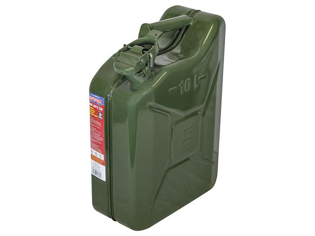Green 10 Litre Steel Jerry Can