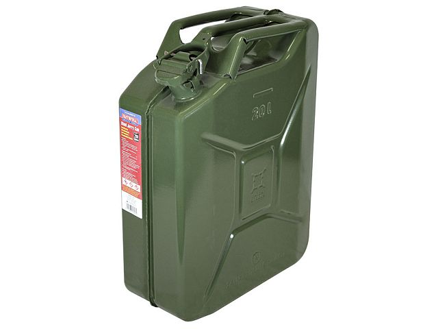 Green 20 Litre Steel Jerry Can