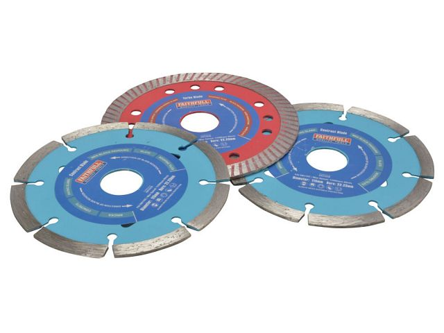 115mm Diamond Blade Set (2 x Contract 1 x Turbo)
