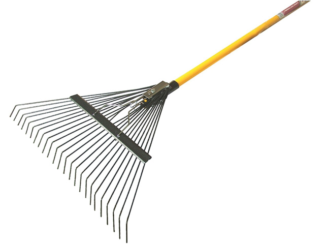 Flexo leaf rake fibreglass shaft for Large rake garden tool