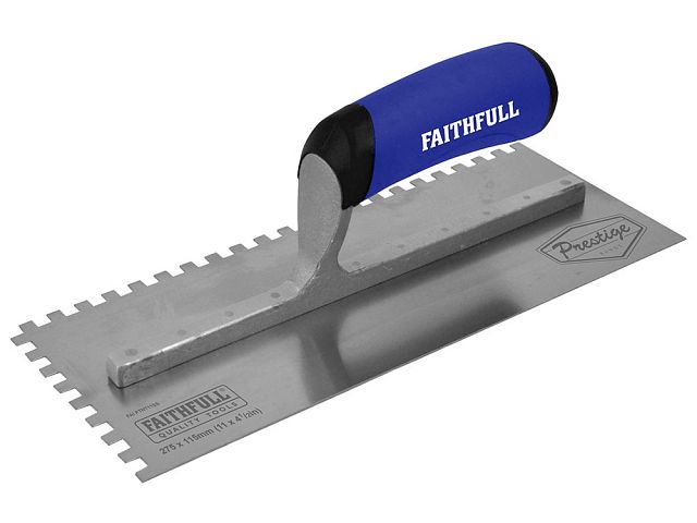 Prestige Stainless 6mm Notched Trowel 275 x 115mm