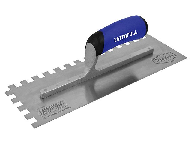 Prestige Stainless 10mm Notched Trowel 330 x 115mm