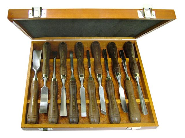 Wood Carving Chisels Set Of 12 In Case Faithfulltools Com