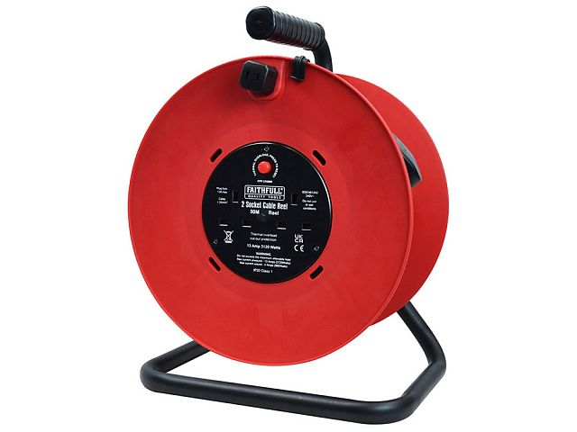 Open Cable Reel 240V 50M 13A