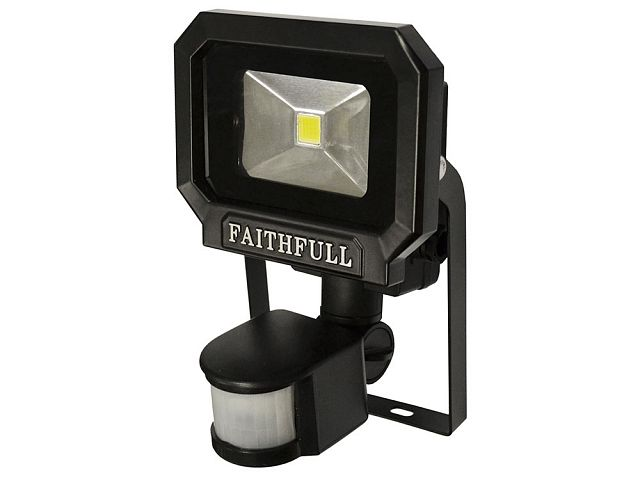 10w cob led security light with pir sensor faithfulltools the faithfull cob led security aloadofball Image collections