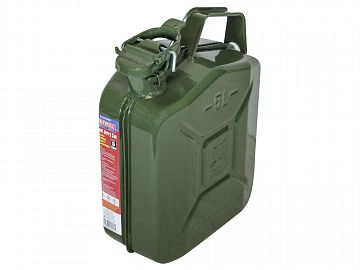 Green 5 Litre Steel Jerry Can