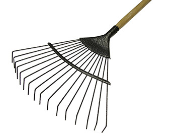 Leaf Rake 16T Carbon Steel with Ash Wood Handle