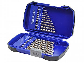 HSSE M35 Cobalt Drill Set (x19) 1-10mm