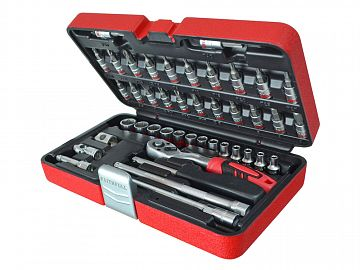 Socket Set 43 Piece 4-14mm 1/4in SqDr