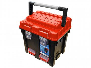 Plastic Cube Toolbox with Detachable Trays 440mm (17in)