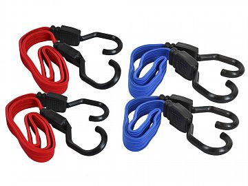 Flat Style Bungee Cords - Set of 4